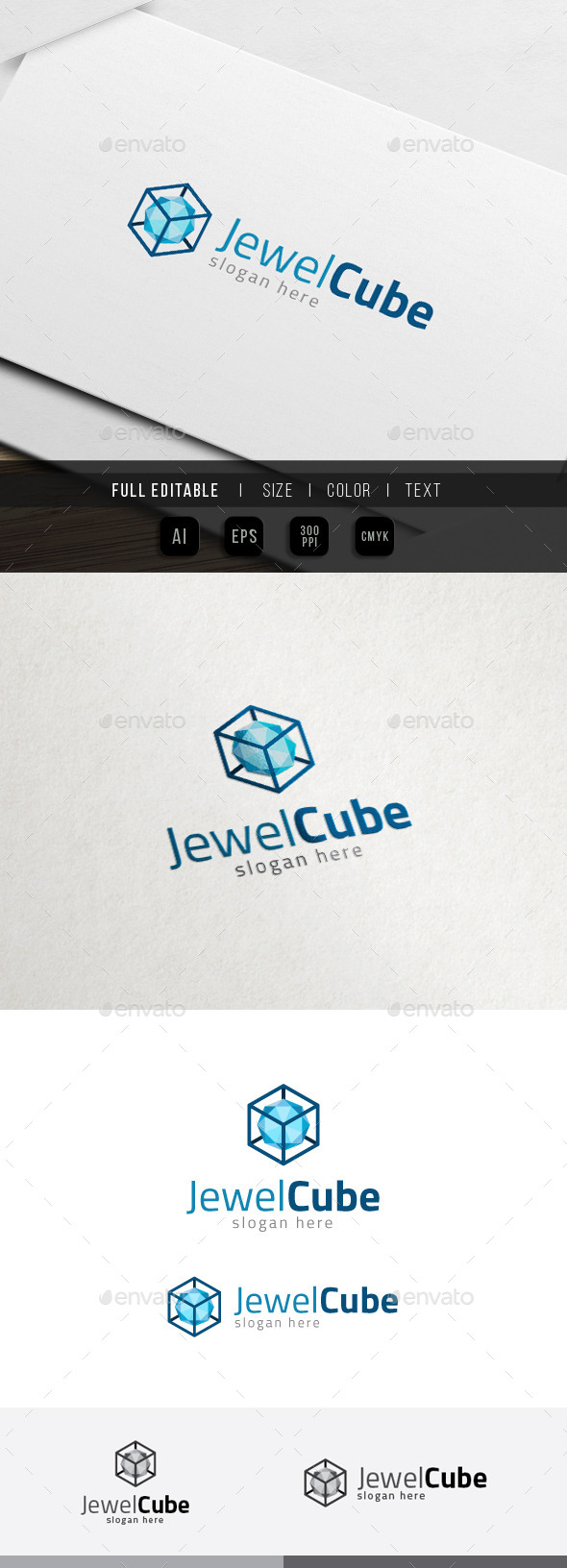 GraphicRiver Diamond Box Media Jewelery Cube Logo 11538841