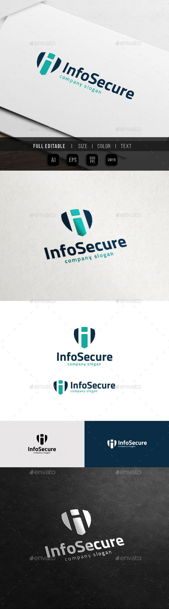 GraphicRiver Info Secure International Shield i Logo 11539027