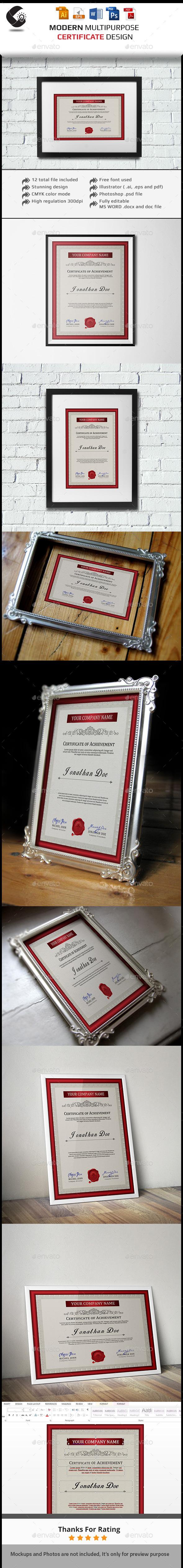 GraphicRiver Multipurpose Certificate Template 11539038