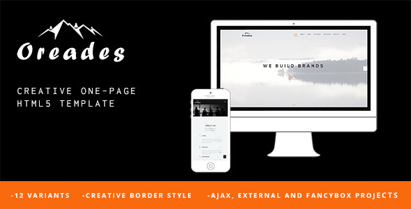 ThemeForest Oreades Creative One-Page HTML5 Template 11481109