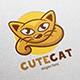 Cute Cat Logo Template - GraphicRiver Item for Sale