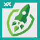 Green Startup Growth - Rocket Launch Logo - GraphicRiver Item for Sale