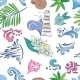 Travel Sea Colorful Pattern - GraphicRiver Item for Sale
