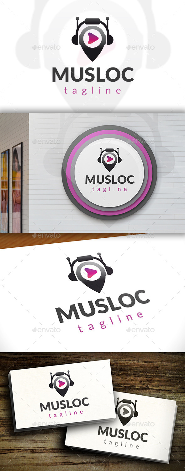GraphicRiver Music Locator Logo Template 11539188