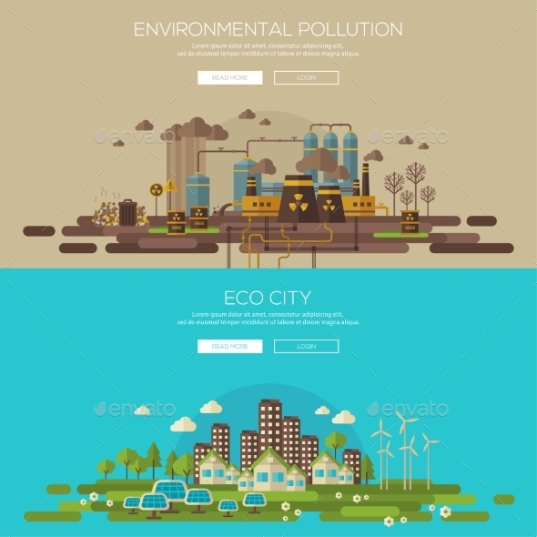 GraphicRiver Green Eco City And Environmental Pollution 11539221
