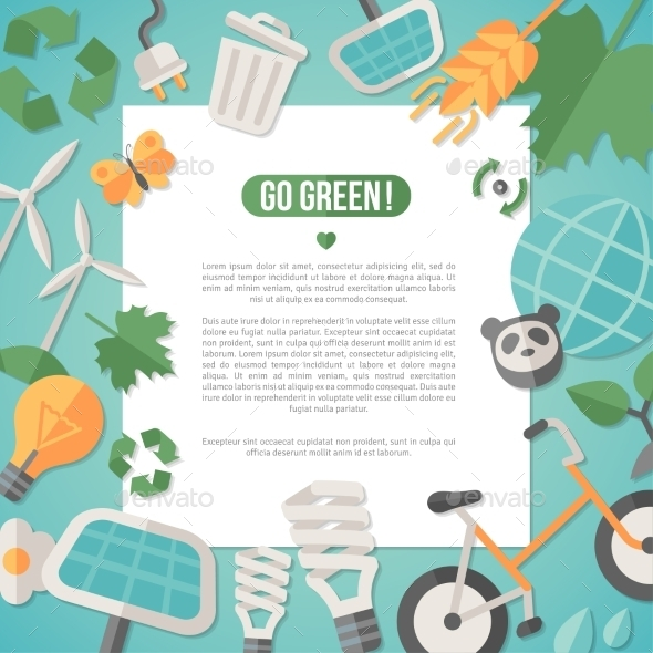 GraphicRiver Flat Design Concept For Ecology Recycling 11539224