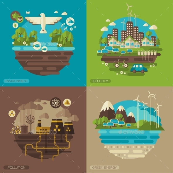 GraphicRiver Ecology Environment Green Energy And Pollution 11539227