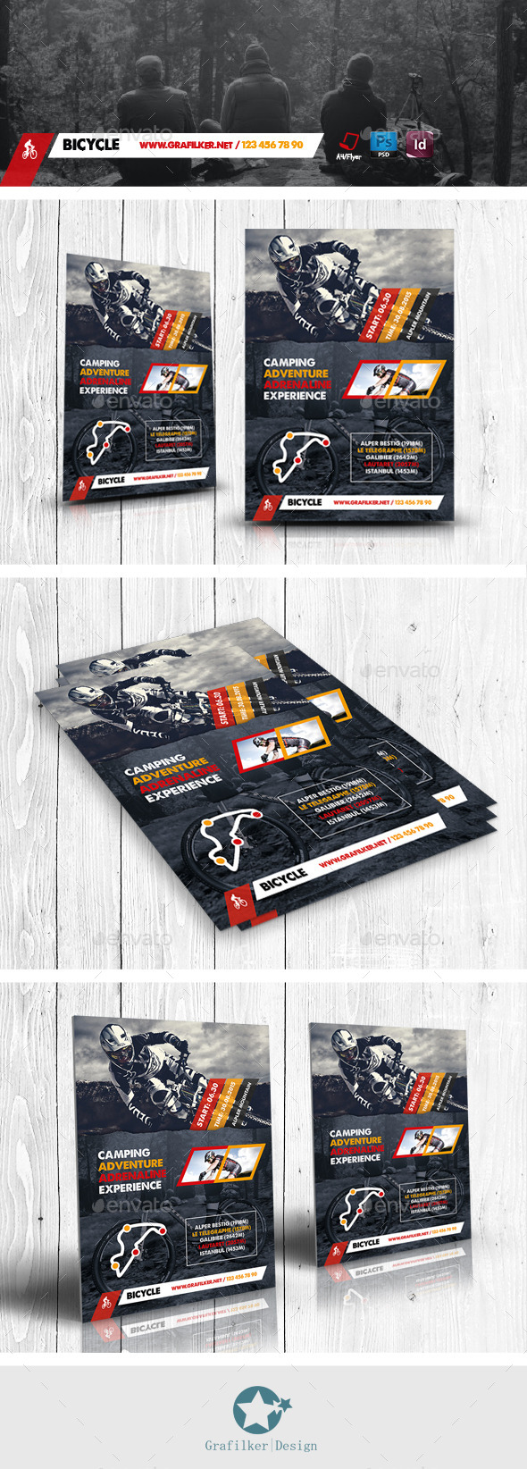 GraphicRiver Bicycle Racing Flyer Templates 11539233