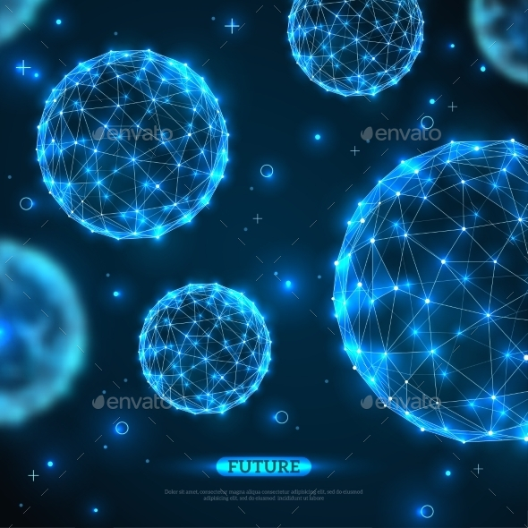 GraphicRiver Abstract Vector Spheres Futuristic Technology 11539234