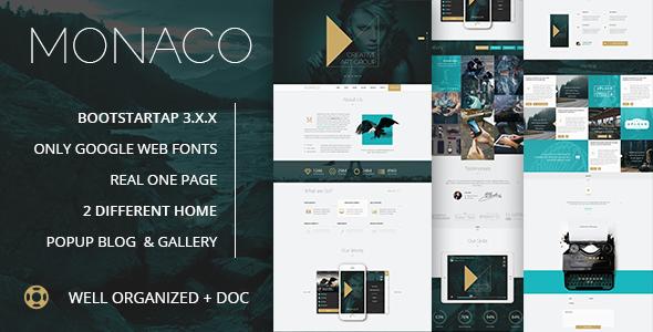 ThemeForest Monaco Creative HTML5 Bootstrap Template 11461305