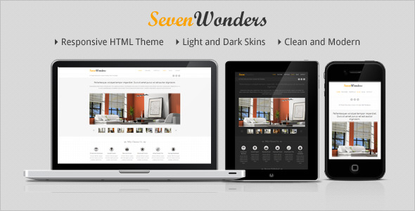 SevenWonders - Clean Responsive HTML Template