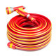 Red garden coiled hose with handle isolated - PhotoDune Item for Sale