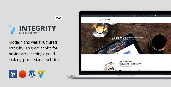ThemeForest Integrity Responsive Business WordPress Theme 11539602