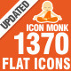 1370 Flat Icons-Icon Monk - GraphicRiver Item for Sale