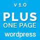 Plus one page wordpress theme - ThemeForest Item for Sale