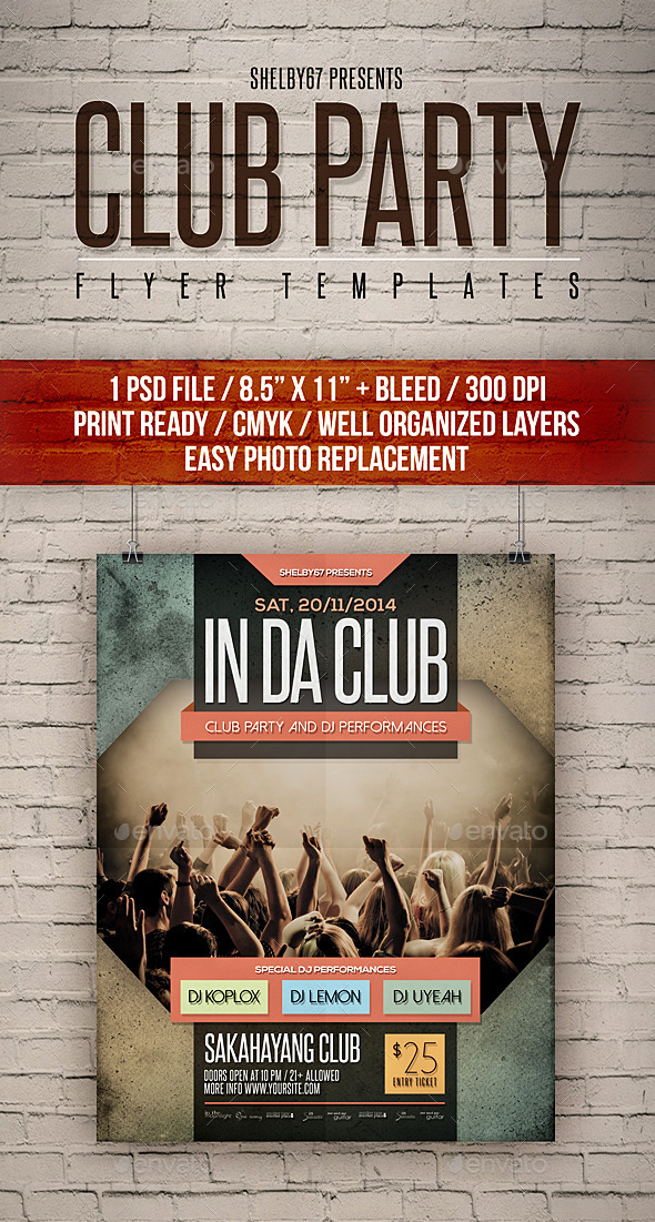 GraphicRiver Club Party Flyer Templates 11539828