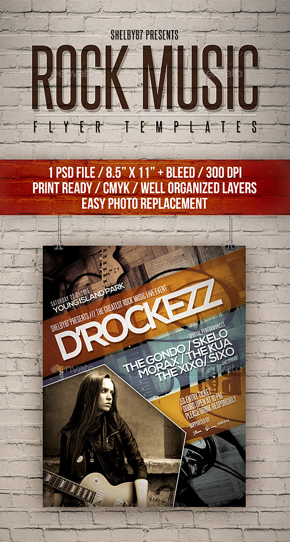 GraphicRiver Rock Music Flyer Templates 11539969