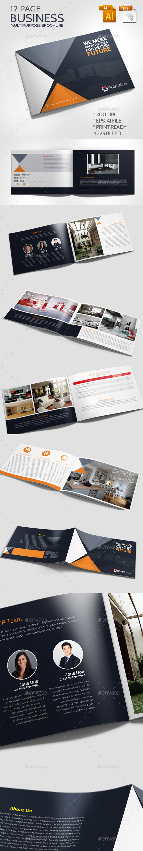 GraphicRiver Business Multipurpose Brochure 11426397