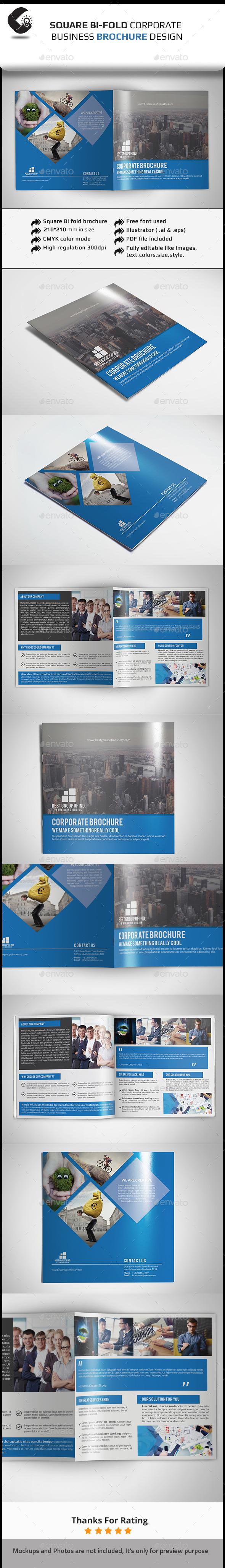 GraphicRiver Square Bifold Brochure 11540055