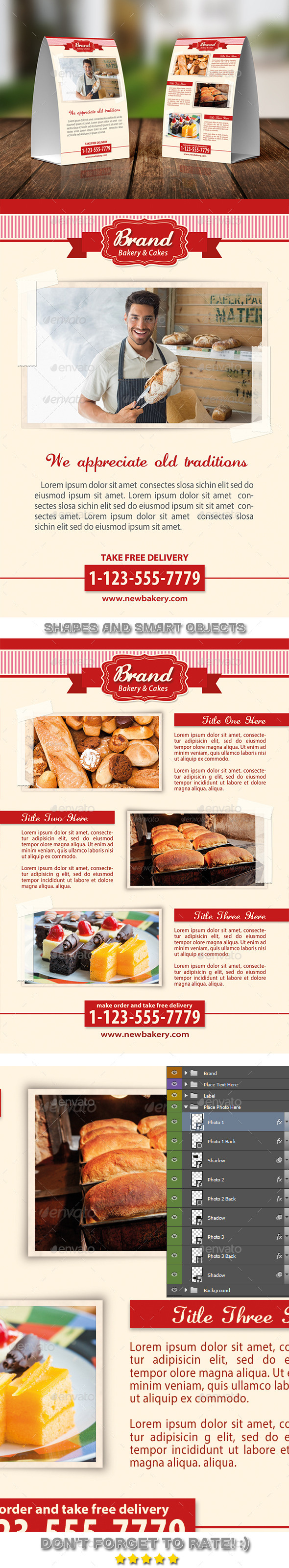 GraphicRiver Bakery Food Table Tent Template 07 11540183