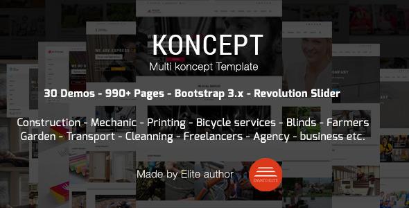 Koncept - HTML5 Multi-Concept Template
