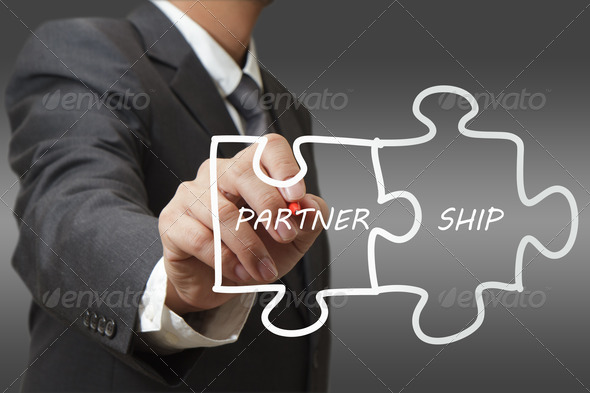 PhotoDune businessman draws puzzle partnership 1157801