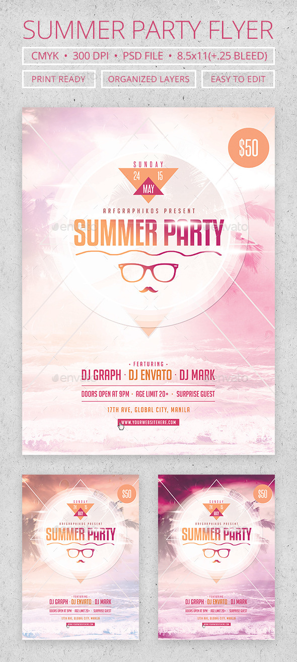 GraphicRiver Summer Party Flyer 11432900