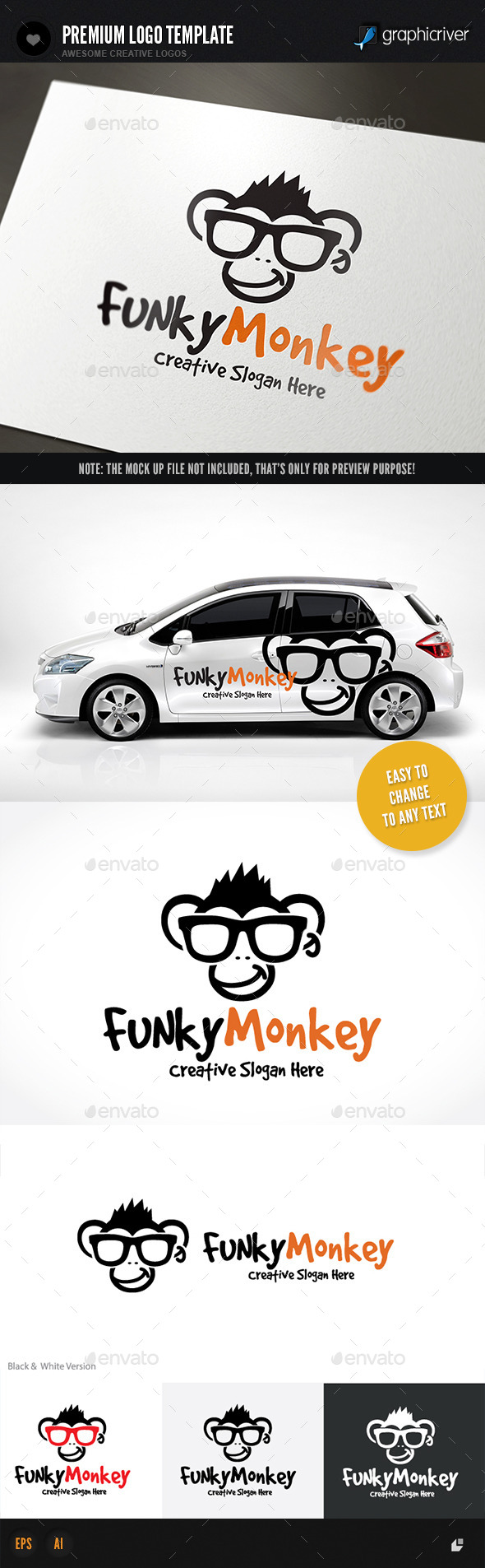 GraphicRiver Funky Monkey 11540618