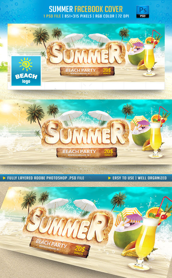 GraphicRiver Summer Facebook Cover 11540649