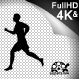 Barefoot Running Silhouette - VideoHive Item for Sale