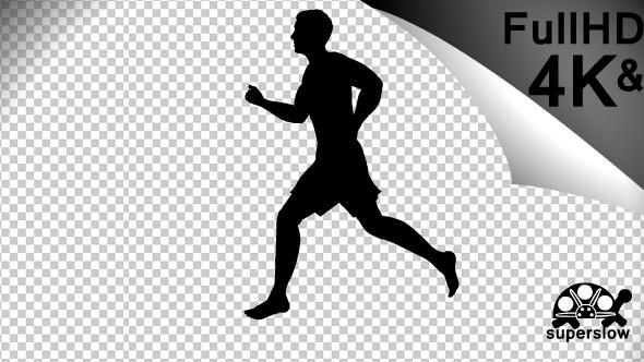 Barefoot Running Silhouette