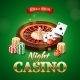 Casino Background With Roulette Wheel, Chips, Game - GraphicRiver Item for Sale