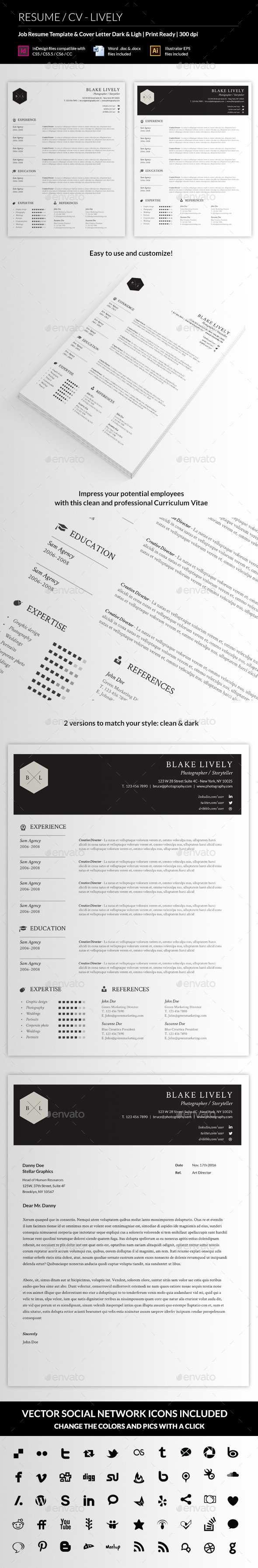 GraphicRiver Resume CV Lively 11541014