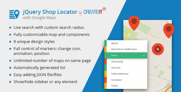 CodeCanyon jQuery Shop Locator 11541173