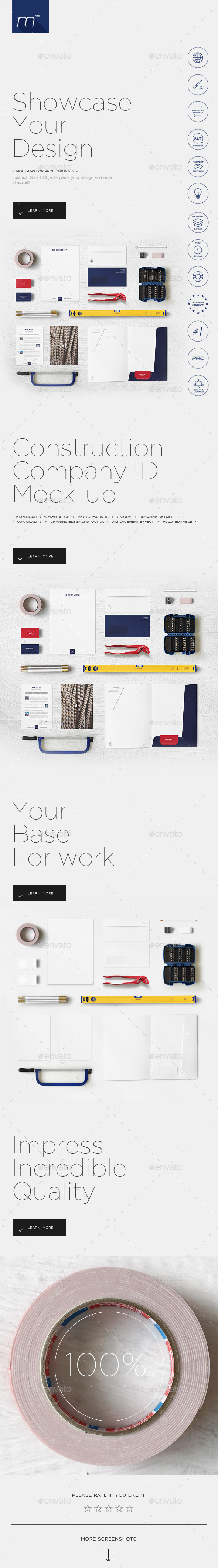GraphicRiver Construction Company Identity Mock-up 11541186