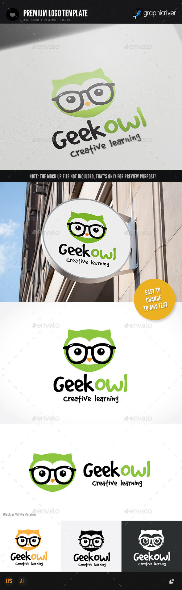 GraphicRiver Geek Owl 11541239
