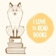 Fox And Books - GraphicRiver Item for Sale