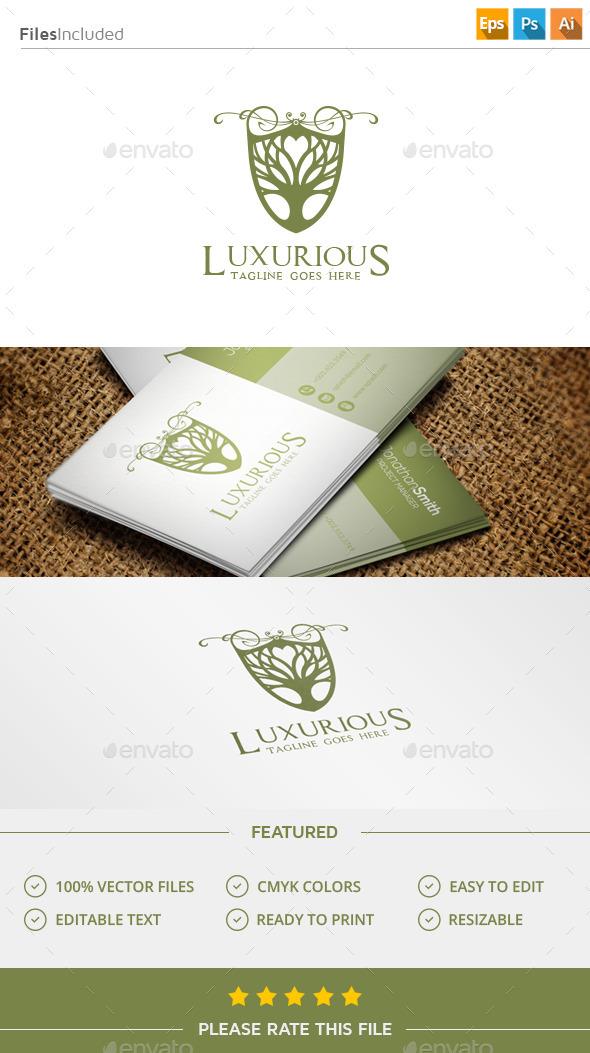 GraphicRiver Luxury Tree Logo 11541402