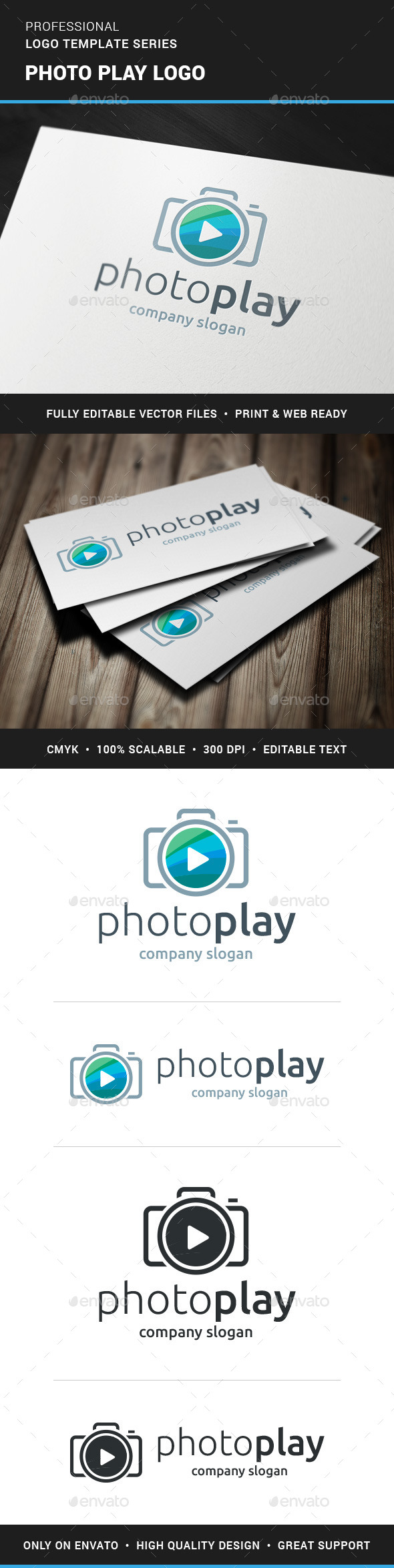 GraphicRiver Photo Play Logo Template 11541441