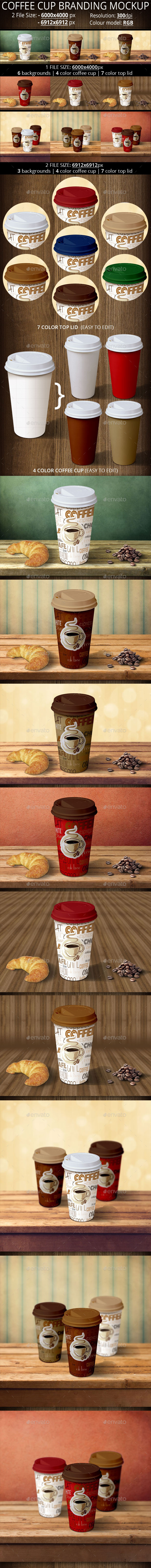 GraphicRiver Two Coffee Cup Branding Mockup 11541457
