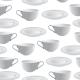 Seamless Vector Background With Plates And Cups. - GraphicRiver Item for Sale