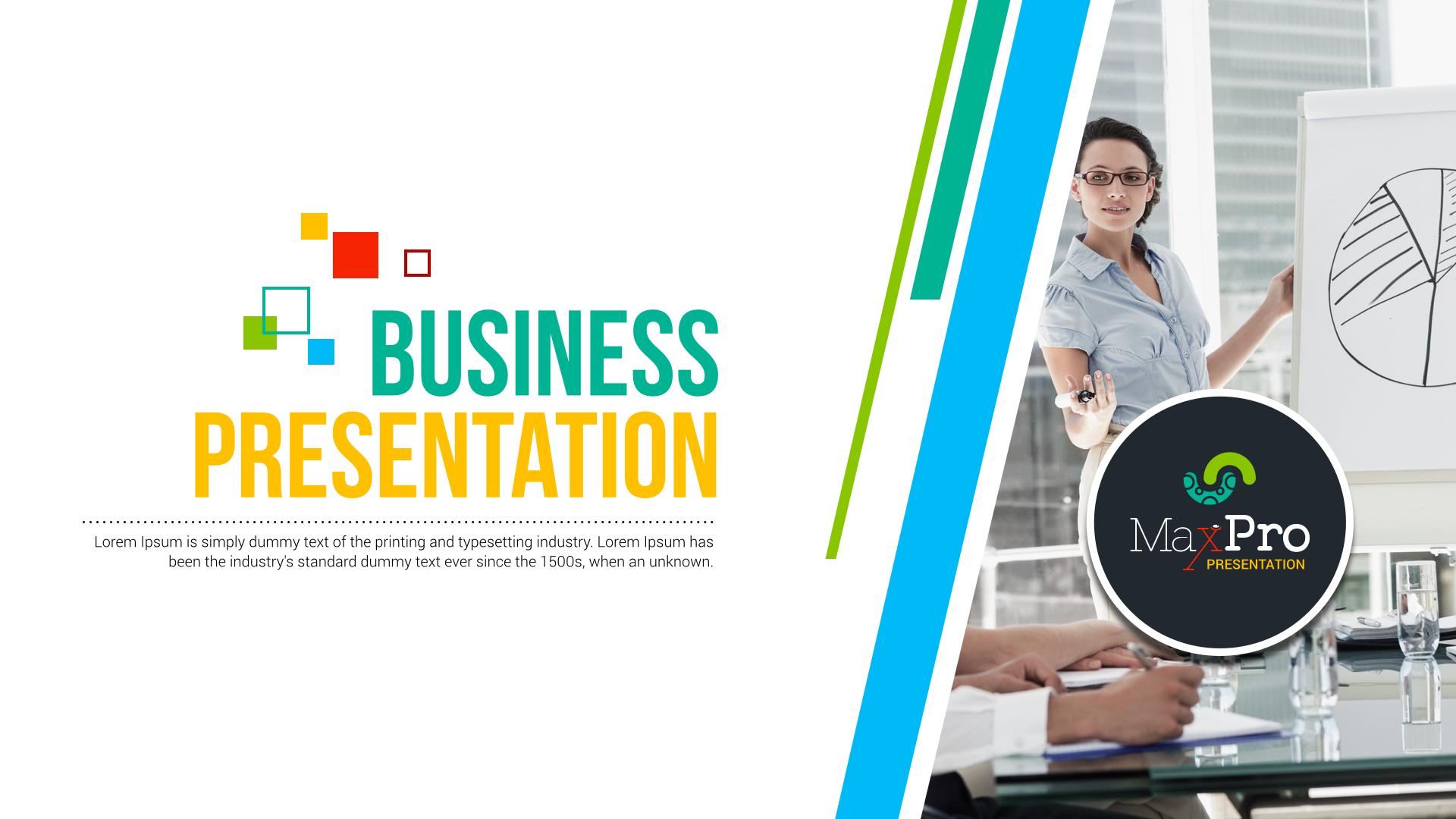 MaxPro Business Plan PowerPoint Presentation by ContestDesign – Business Presentation
