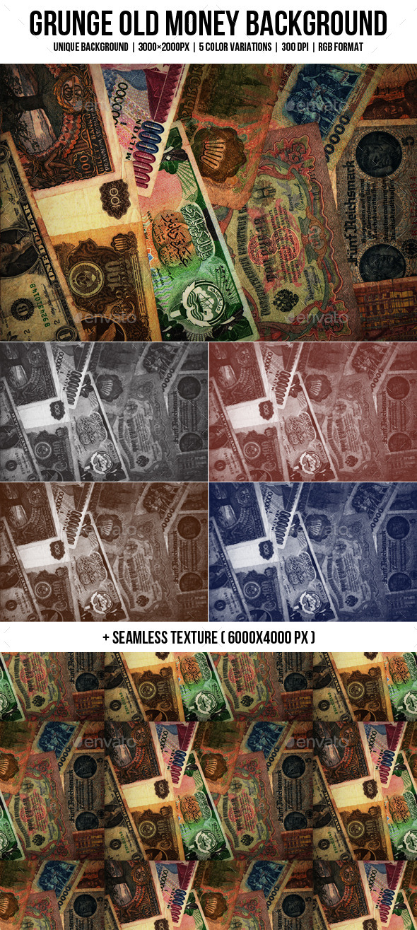 GraphicRiver Grunge Old Money Backgrounds 11542103