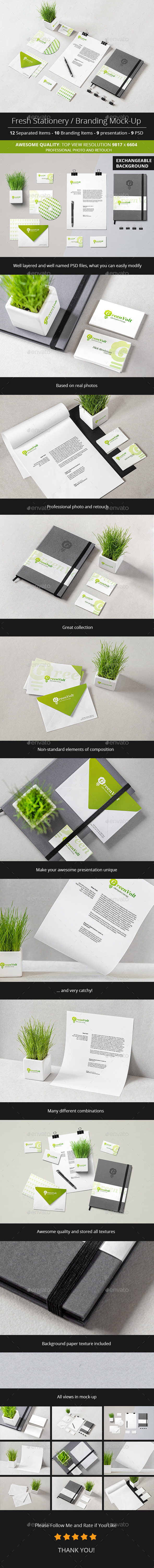 Fresh Stationery / Branding Mock-Up (Stationery)