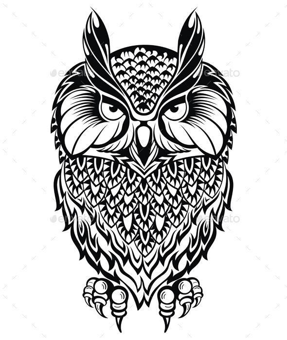 GraphicRiver Owl Symbol 11542140