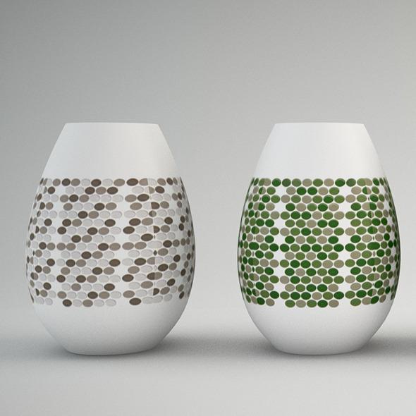 3DOcean Vase polka dots 11542199