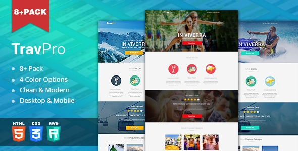 ThemeForest TravelPro Travel Landing Page HTML5 11129336