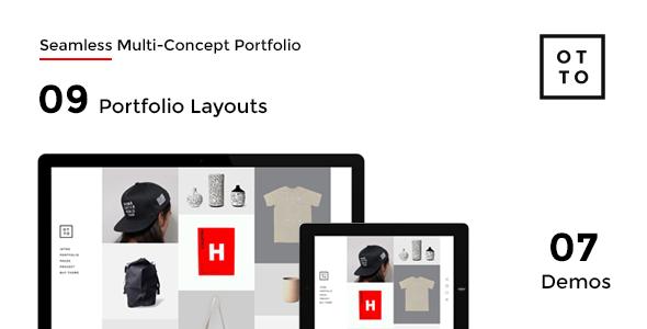 OTTO – WordPress with AJAX Multi-Concept Portfolio (Portfolio) Download