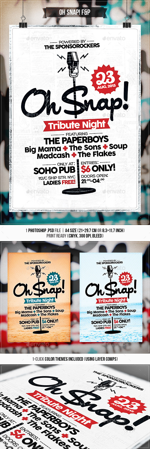 GraphicRiver Oh Snap Flyer & Poster 11542330
