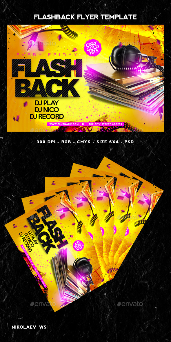 GraphicRiver Flashback Flyer 11542332